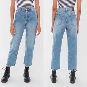 UO BDG High-Rise Slim Straight Jean Light Wash